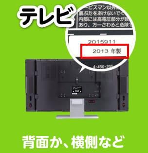 テレビ/製造年月日