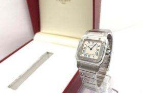 カルティエ サントスガルベ レディース 腕時計 純正ケース、保証書付き